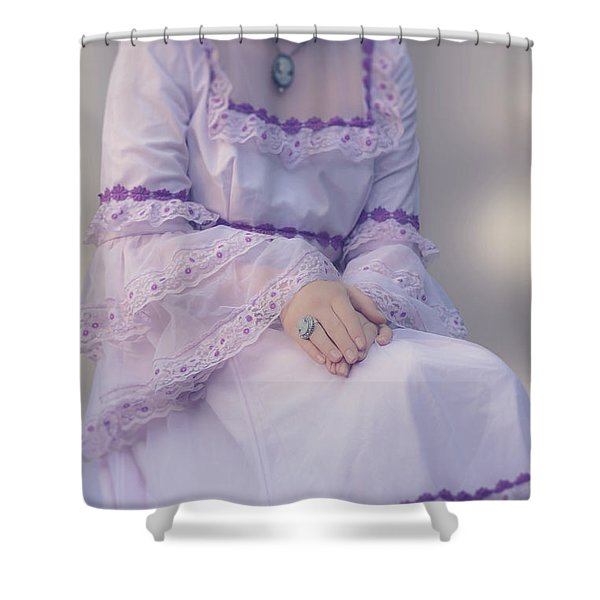 pink wedding dress Shower Curtain by Joana Kruse