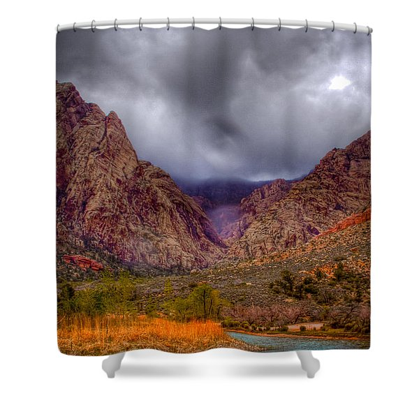 Red Rock Canyon Shower Curtain by David Patterson