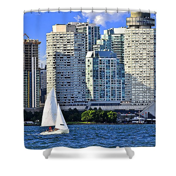 Sailing In Toronto Harbor Shower Curtain by Elena Elisseeva