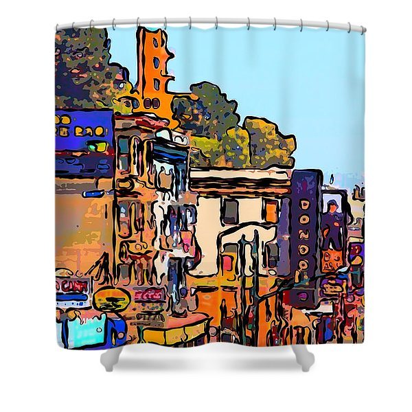 San Francisco Broadway Shower Curtain by Wingsdomain Art and Photography