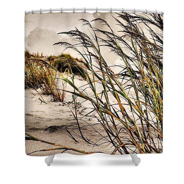 Sea Oats Shower Curtain by Kristin Elmquist