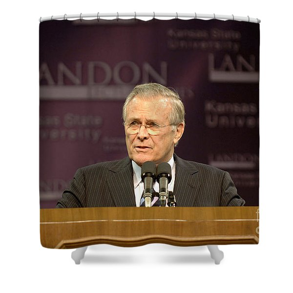 Secretary Of Defense Donald H. Rumsfeld Shower Curtain by Stocktrek Images