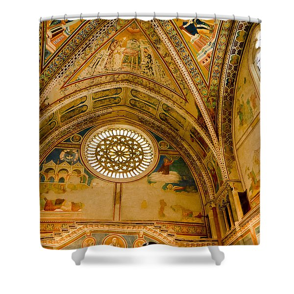 St Francis Basilica   Assisi Italy Shower Curtain by Jon Berghoff