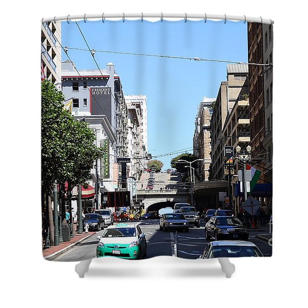 Stockton Street Tunnel in San Francisco Shower Curtain by Wingsdomain Art and Photography