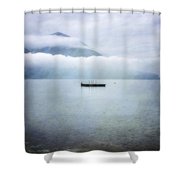 Swim Platform Shower Curtain by Joana Kruse