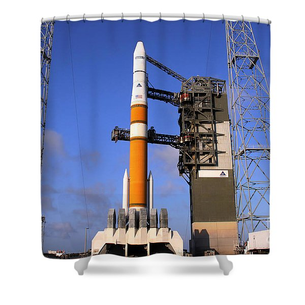 The Delta Iv Rocket That Will Launch Shower Curtain by Stocktrek Images