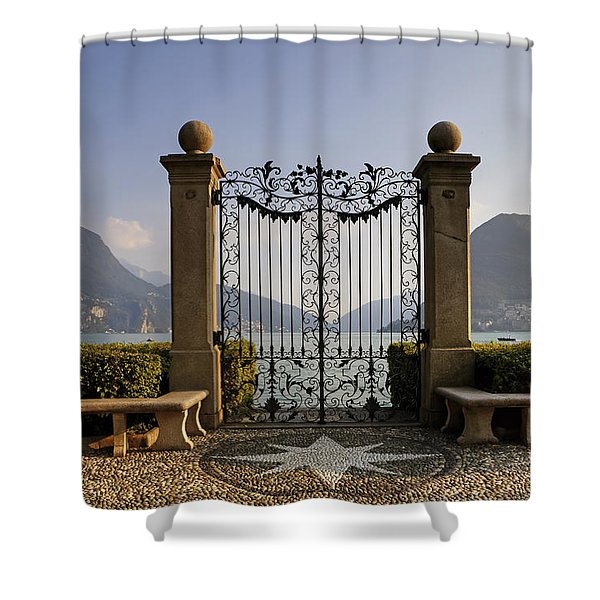 The gateway to Lago di Lugano Shower Curtain by Joana Kruse