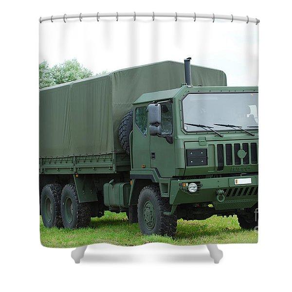 The Iveco M250 8 Ton Truck Shower Curtain by Luc De Jaeger