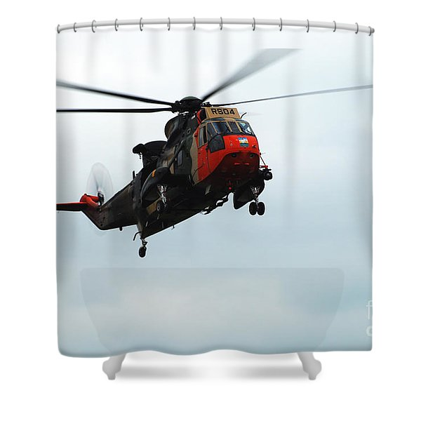 The Sea King Helicopter In Use Shower Curtain by Luc De Jaeger
