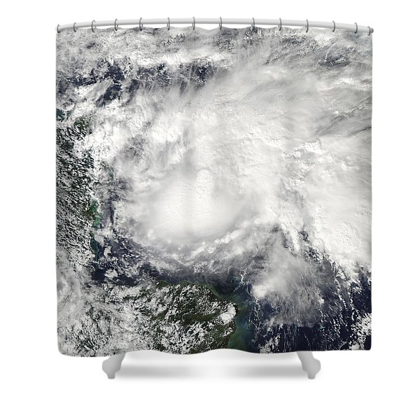Tropical Storm Ida In The Caribbean Sea Shower Curtain by Stocktrek Images