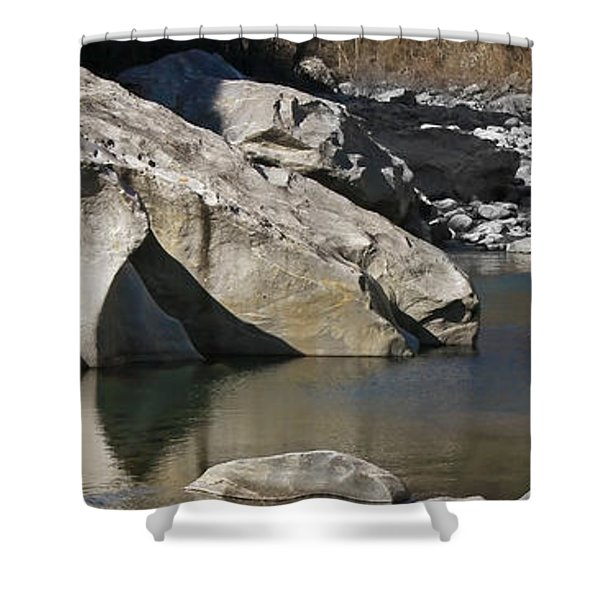 Valle Maggia Shower Curtain by Joana Kruse