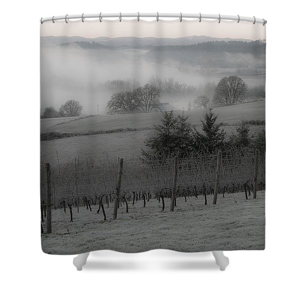 Winter Vineyard Shower Curtain by Jean Noren