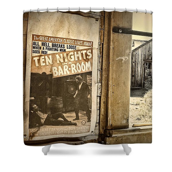 10 Nights in a Bar Room Shower Curtain by Scott Norris