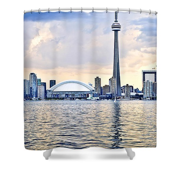 Toronto Skyline Shower Curtain by Elena Elisseeva
