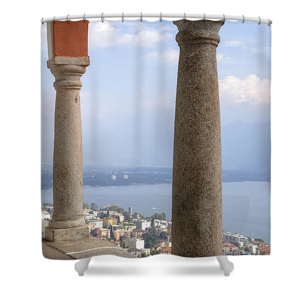 Madonna del Sasso - Locarno Shower Curtain by Joana Kruse