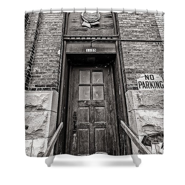 1125 Pabst Shower Curtain by CJ Schmit