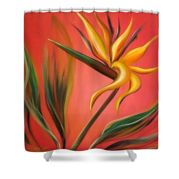 Shower Curtains - Bird of Paradise Shower Curtain by Gina De Gorna