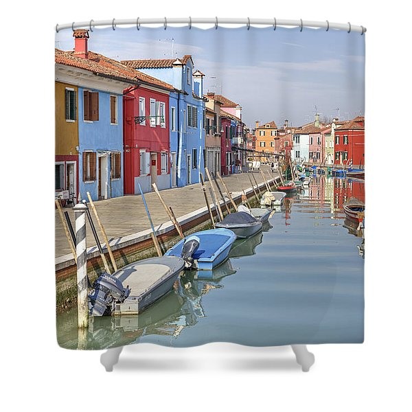 Burano Shower Curtain by Joana Kruse
