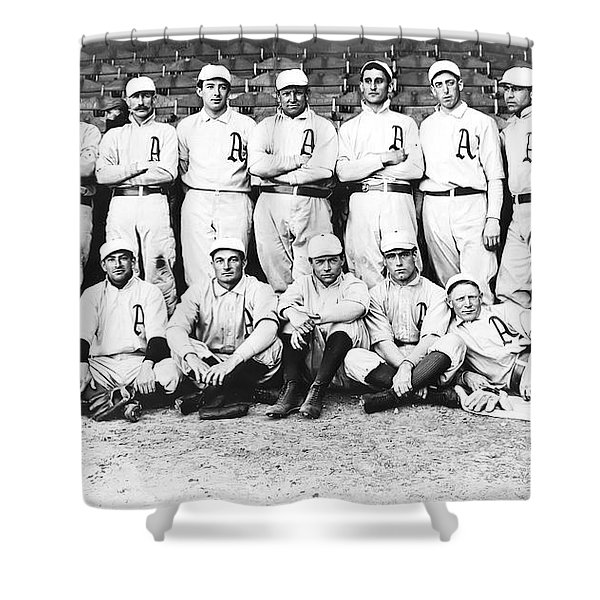 1902 Philadelphia Athletics Shower Curtain by Bill Cannon