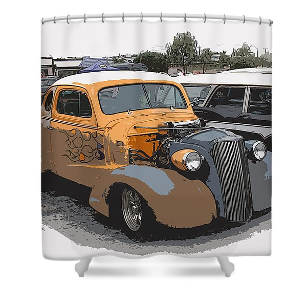 1937 Chevy Coupe Shower Curtain by Steve McKinzie