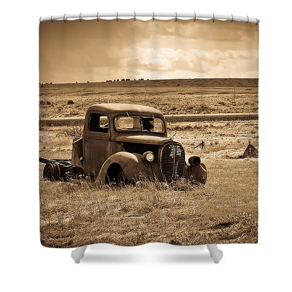 1938 Ford Pickup Shower Curtain by Steve McKinzie
