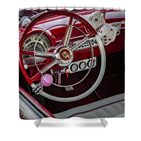 1953 Ford Crestline Victoria Shower Curtain by Susan Candelario