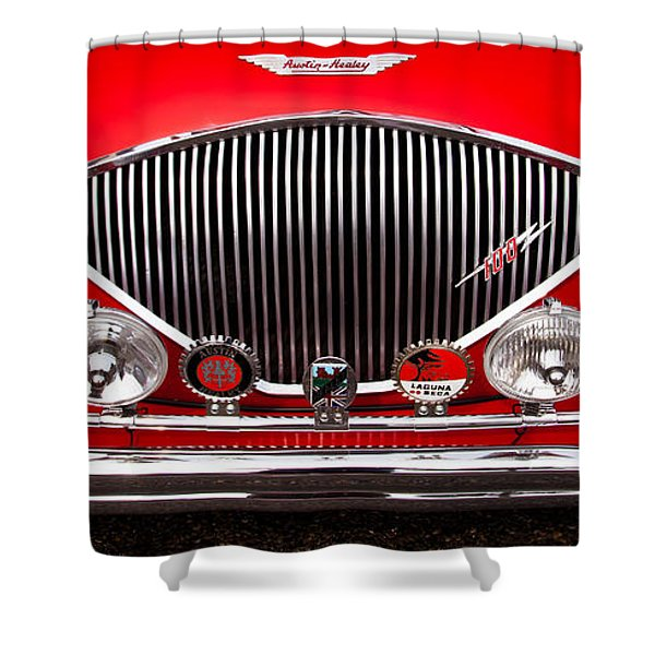 1955 Austin Healey 100-4 Shower Curtain by David Patterson