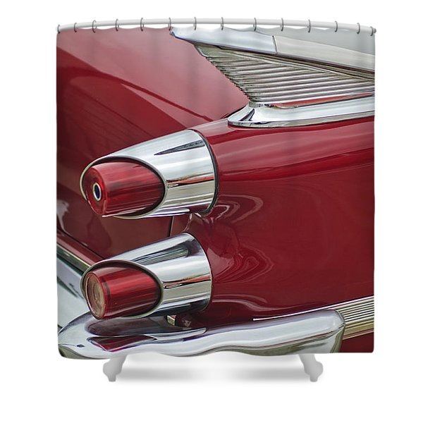 1959 Dodge Custom Royal Super D 500 Taillight Shower Curtain by Jill Reger
