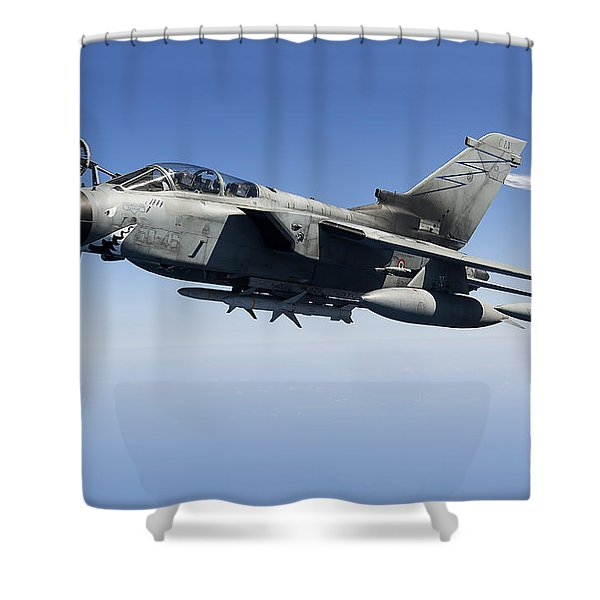 An Italian Air Force Tornado Ids Shower Curtain by Gert Kromhout