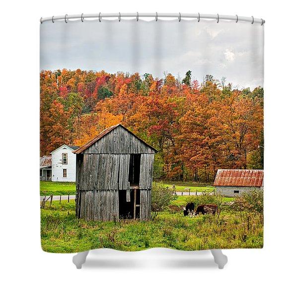 Autumn Farm Shower Curtain by Steve Harrington