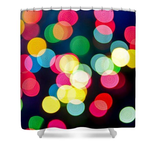 Blurred Christmas Lights Shower Curtain by Elena Elisseeva