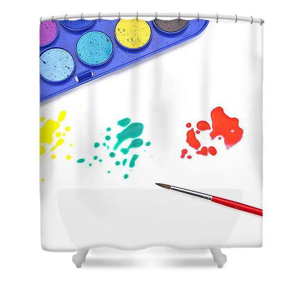 Color Splash Shower Curtain by Joana Kruse
