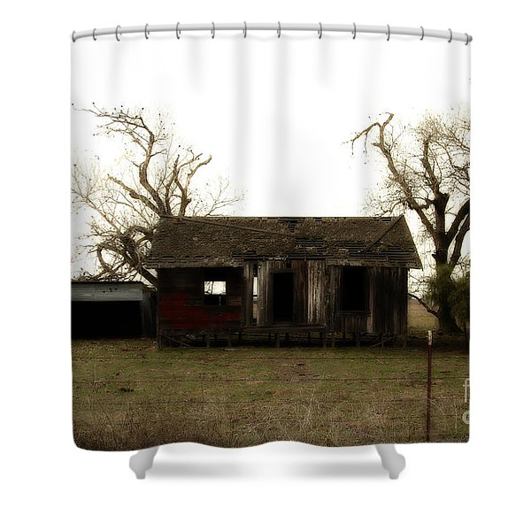 Dilapidated Old Farm House . 7D10341 Shower Curtain by Wingsdomain Art and Photography