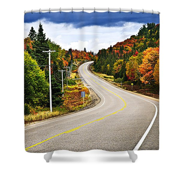 Fall highway Shower Curtain by Elena Elisseeva