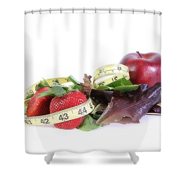Healthy Diet Shower Curtain by Photo Researchers, Inc.