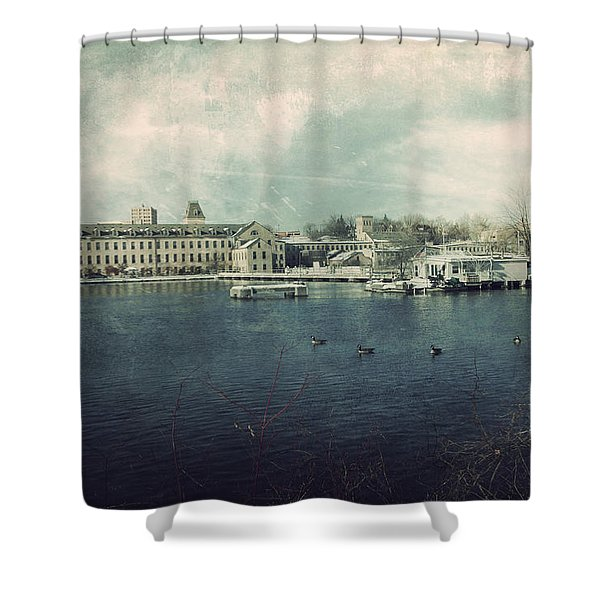 Historic Fox River Mills Shower Curtain by Joel Witmeyer