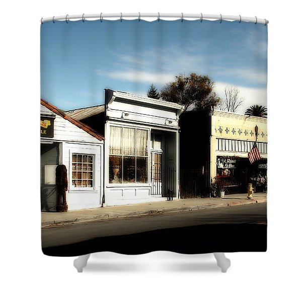 Historic Niles District In California Near Fremont . Main Street . Niles Boulevard . 7d10676 Shower Curtain by Wingsdomain Art and Photography