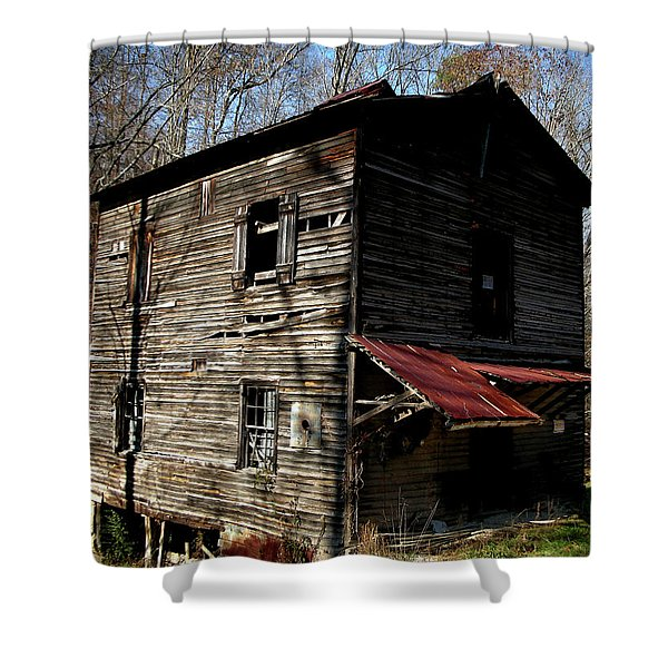 Old Grist Mill Shower Curtain by Paul Mashburn