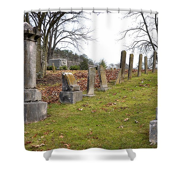 Pleasant Forest Cemetery Shower Curtain by Paul Mashburn
