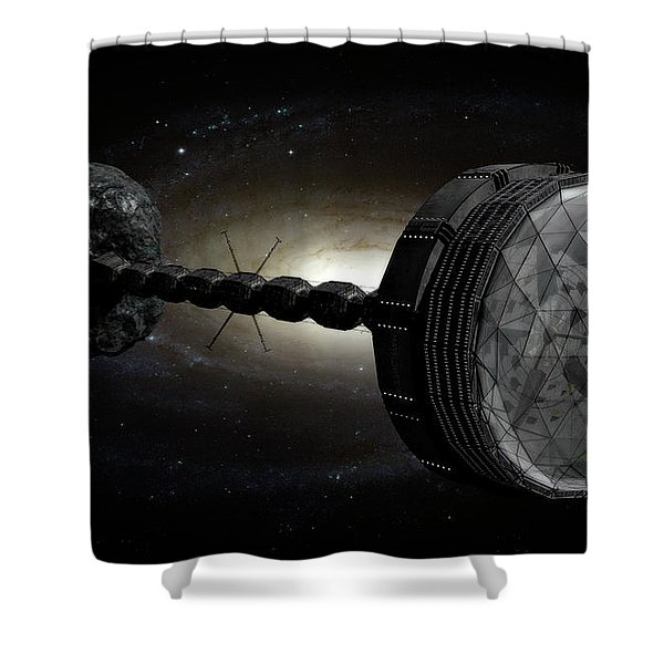 Starship Inspired By The Novels Shower Curtain by Rhys Taylor