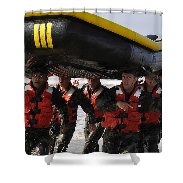 Students In Basic Underwater Shower Curtain by Stocktrek Images