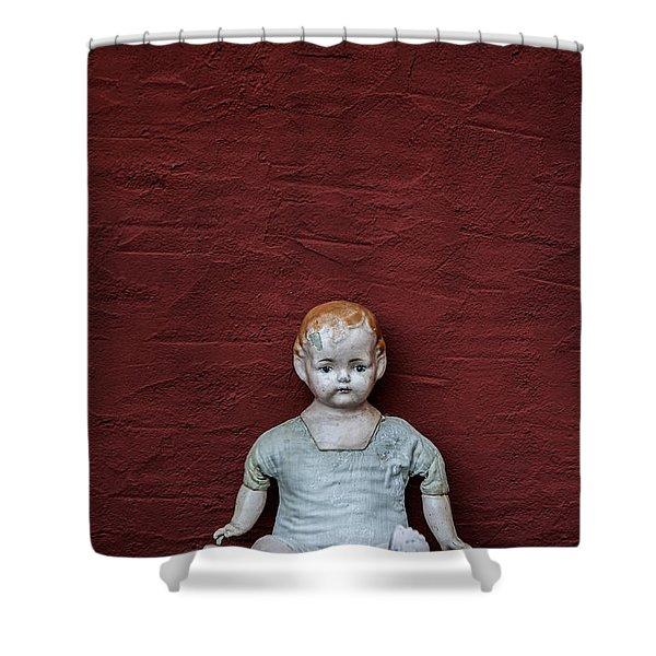 The Doll Shower Curtain by Joana Kruse