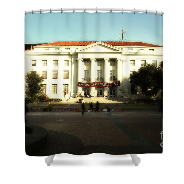 Uc Berkeley . Sproul Hall . Sproul Plaza . Occupy Uc Berkeley . 7d9994 Shower Curtain by Wingsdomain Art and Photography