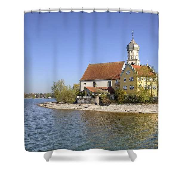 Wasserburg Shower Curtain by Joana Kruse