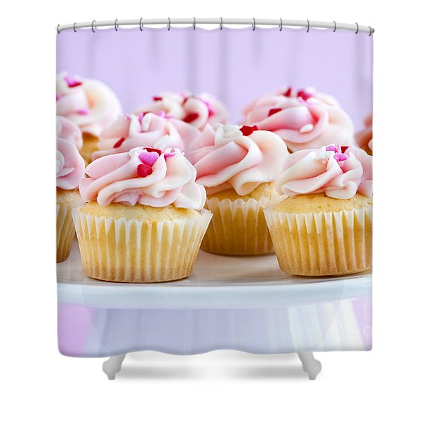 Cupcakes Shower Curtain by Elena Elisseeva