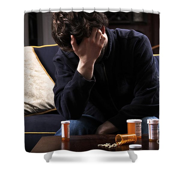 Depression And Addiction Shower Curtain by Photo Researchers, Inc.