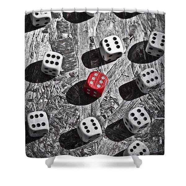 dice Shower Curtain by Joana Kruse