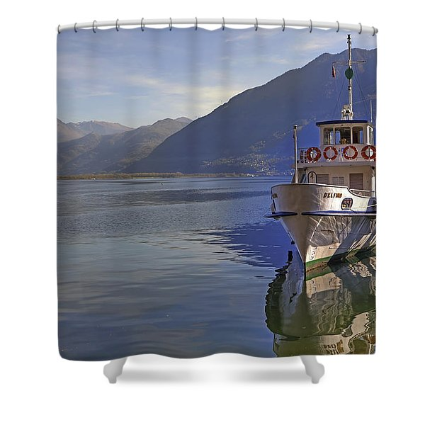 Locarno Shower Curtain by Joana Kruse