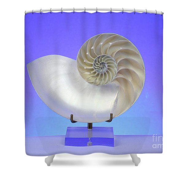 Logarithmic Spiral Shower Curtain by Photo Researchers, Inc.