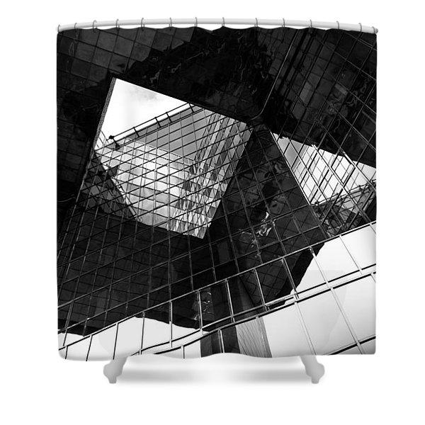 London Southbank Abstract Shower Curtain by David Pyatt